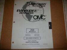 EVINRUDE OUTBOARD MOTOR BOAT ENGINE 250 MODELS Illust. parts final edition