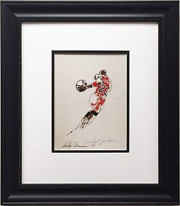 """LeRoy Neiman """"Michael Jordan"""" Newly CUSTOM FRAMED Art Print - Chicago Bulls MJ"""