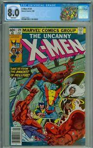 X-Men 129 CGC 8.0 | White Pgs |1st Kitty Pride Emma Frost White Queen NEWSSTAND