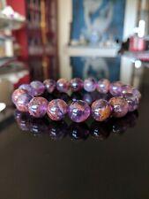 """AURALITE-23 Bead Bracelet Men Women Stretch 12mm 7"""", 7.5"""", 8"""", 8.5"""" inch AAA"""