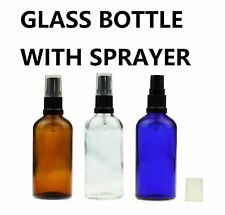 Amber Blue Green Clear Glass Mist Spray Bottle with Cap Aromatherapy Perfume