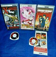 PSP UMD Video; Tenjho Tenge -NEW, Cowboy Bebop, X -Full Length Movie, VG,Free SH