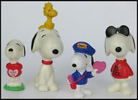 5 VINTAGE PEANUTS SNOOPY AND WOODSTOCK FIGURES