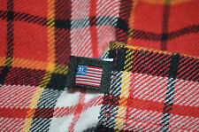 Polo Jeans Ralph Lauren Blue Red Yellow White Plaid Flannel Shirt XL 1X Flag