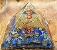 ExtraLarge 80mm Lapis Orgone Healing Crystal Pyramid EMF Protection Feng Shui