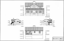Full Set of single story 3 bedroom house plans 1,608 sq ft