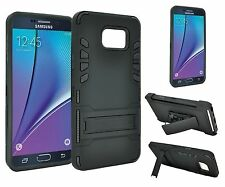Samsung Galaxy Note 5 Phone Hybrid Defender Case Cover Belt Clip Holster + Glass