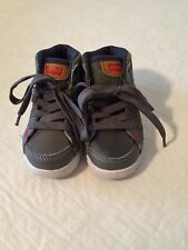 Toddler Levis high top sneaker shoes gray size 6