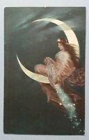 alte Ansichtskarte Postkarte H. Kaulbach Die Mondfee Hanfstaengl`s Künstlerkarte