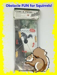 🐿 Cobs-A-Twirl Fun 'N Feed Twirling Obstacle Fun for Squirrels! 🐿
