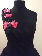Stunning Amanda Wyatt Black/PinkProm/ball/Steam Punk Dress With Train UK10 BNWT