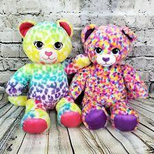 Build-A-Bear Lisa Frank Rainbow Leopard Cat Plush Stuffed Animal Lot  RETIRED