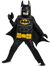 Batman Lego Movie Deluxe 6pc Costume Kids Size M 7/8 Licensed Disguise