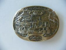 "NIW Lampson Henry ""The 9:45 Accommodation"" Brass Belt Buckle"