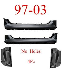 97 03 Ford 4Pc Extended Rocker & Cab Corner Kit, No Holes, Regular Cab, F150