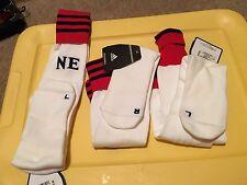Adidas MLS England Revolution Extreme Cushioned Socks-White Men Large (9-13) $22