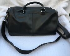 CO-LAB by Christopher Kon Black Leather Convertible Satchel Purse Bag-NEW