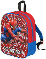Boys Girls Character Backpack Kids School Lunch Book Bag Travel Nursery Rucksack Spiderman - 3d One Size