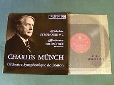 CHARLES MUNCH : SCHUBERT symphonie N° 2 - BEETHOVEN Prométhée LP RCA 630.644 A
