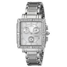Invicta 5377 Women's Square Angel Diamond Steel Chronograph Watch