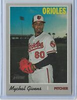 2019 Topps Heritage High Number Flip Stock Mychal Givens Baltimore orioles /5 SP