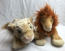 Disney Store Lion King Simba And Nala Soft Toy Plush