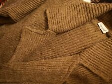 Together Long Rib Knit Coat Brown 14