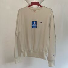 Champion Neutral Beige Sweatshirt Crew Neck Jumper - Brand New With Tags - XS