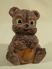 Ceramic teddy bear planter holder vintage 1959 back will hold baby items flowers