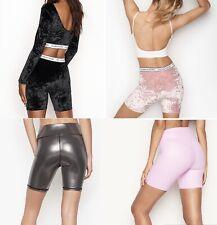 Nwt Victoria's Secret Sport Vsx Shine Velvet High Rise Bike Shorts Pink Xs