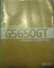 SUZUKI GS650GT  GS 650 GT GS650GL GS650G 1981 - Manuale di Servizio - italiano