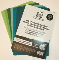 Create & Craft Colour Shades A4 Self Adhesive 250GSM Crafting Cardstock 24 Pack