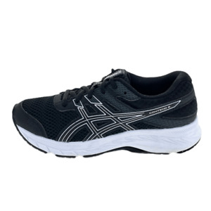 Asics Boys Gel Contend 6 1014A086 Black Running Shoes Lace Up Low Top Size 3.5