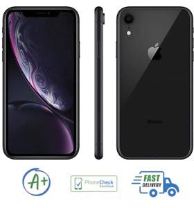 Apple iPhone XR 128GB Black Unlocked A1984 Verizon AT&T Sprint T-Mobile B Grade