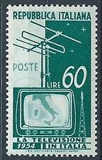 1954 ITALIA TELEVISIONE 60 LIRE MNH ** - W8