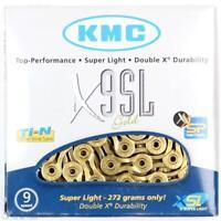 KMC X9SL Gold 9-Speed Bike Chain 116L fits Shimano SRAM FSA Campy MTB / Road