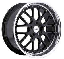 17x8 TSW Valencia 5x112 Rims +32 Black Wheels (Set of 4)