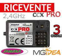 RICEVENTE 2,4 GHZ JAMARA CCX PRO 3 CANALI AUTO BARCA AEREO MODELLISMO 061185