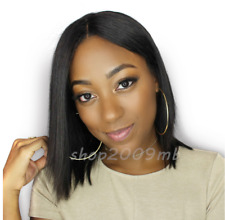 Straight Brazilian Type Hair Bob Lace Front Wigs Short Wig Pre Plucked+Baby Hair