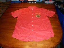 ed hardy by christian audiger red button front shirt mens large tiger