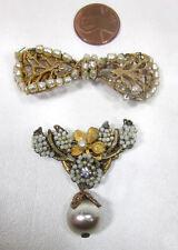 Vintage MIRIAM HASKELL Designer Signed Costume Jewelry Pieces 4 Parts or Repair