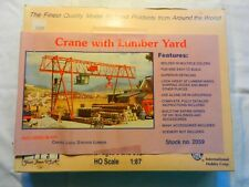 IHC -  HO SCALE   -  BUILDING KIT - CRANE WITH LUMBER YARD   # 2059