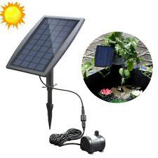 Solar Power Water Pump Panel Submersible Fountain Pond Garden Watering Outdoor