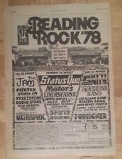 Reading festival Jam Patti Smith 1978 press advert Full page 28 x 39 cm poster