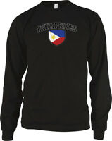 Philippines Flag Crest Filipino National Country Pride Long Sleeve Thermal