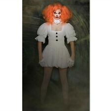Women Pennywise Costume Cosplay Scary Clown Halloween Fancy Dress