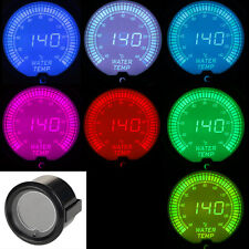 "2"" 52mm 7-Color Water Temp Gauge Car Digital LED Temerature Car Meter Gauge 12V"