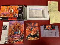 New Horizons (Super Nintendo, 1994) RARE SNES GEM COMPLETE w/ POSTER!