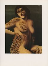 "1972 Vintage MAGRITTE ""DISCOVERY - DECOUVERTE TIGRESS COLOR Art Print Lithograph"