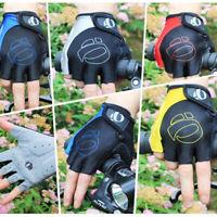 Sports Cycling Gloves Bike Bicycle Gel Pad Half Finger MTB Bike Shockproof Men